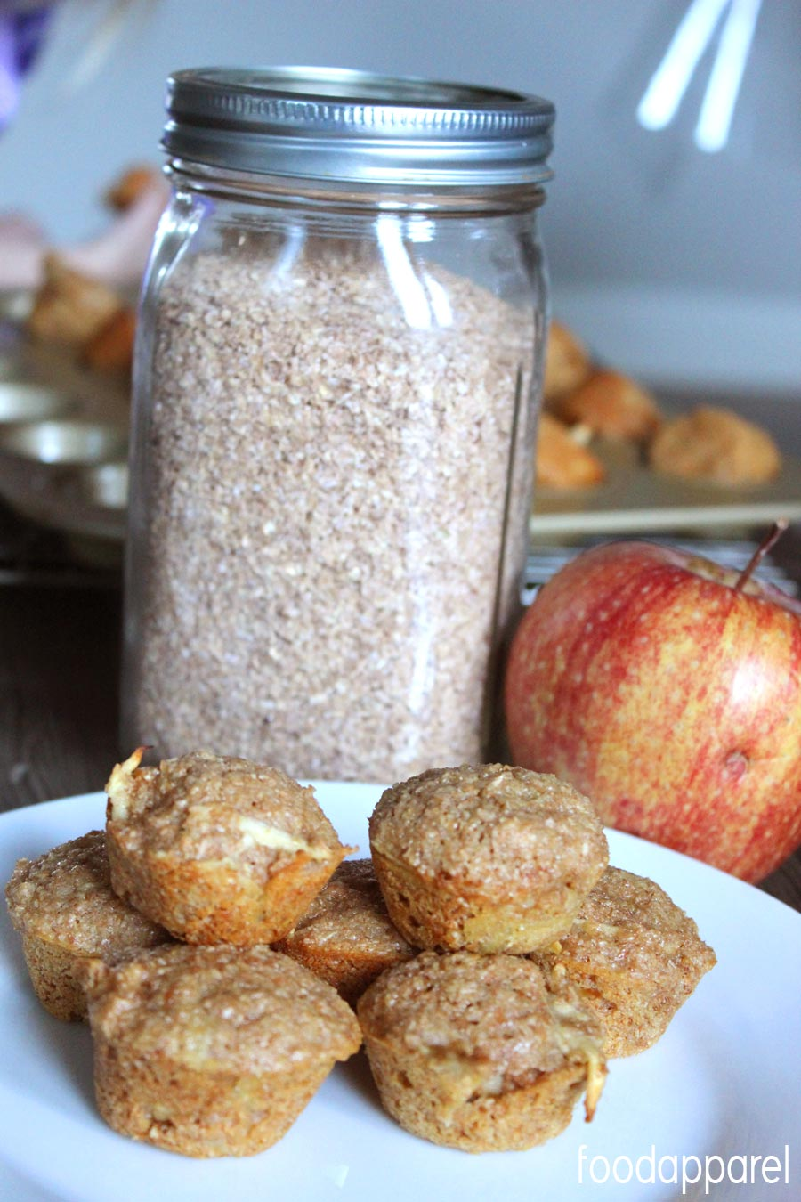 Quick and Healthy Apple Bran Muffins - Mini Style! Your kids will love these (and you will , too!)