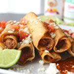 Easy Mexican Bean Taquitos! These are SOOOO good.