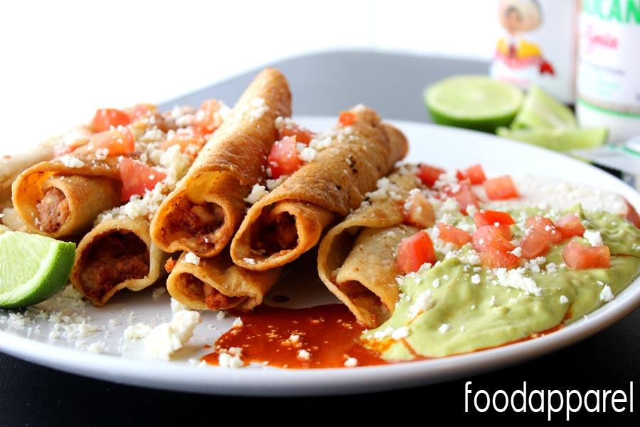 Easy Mexican Bean Taquitos! So easy and SOOOOOO good.