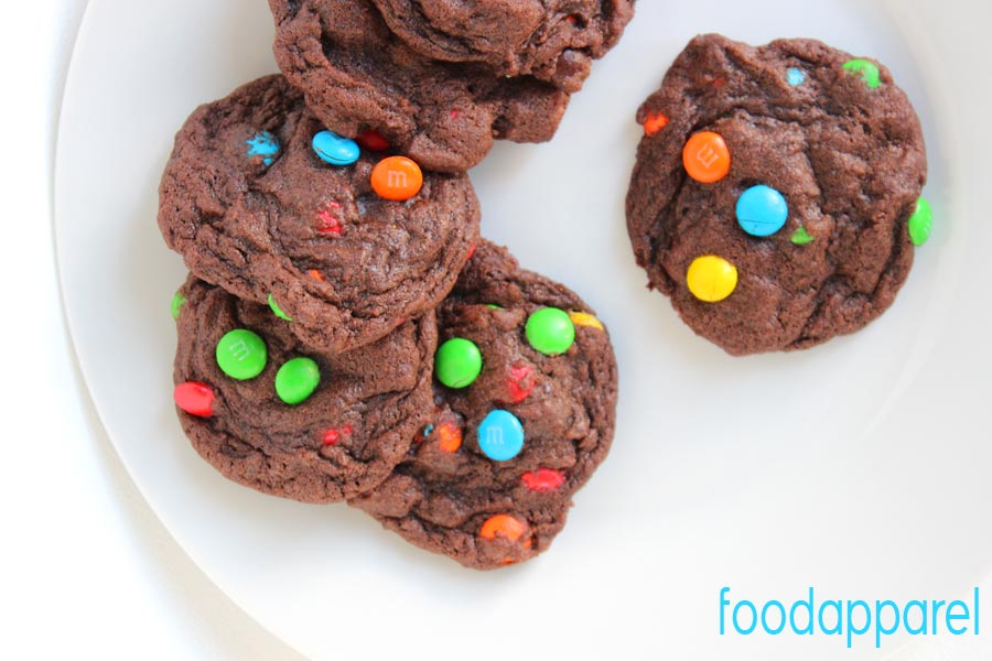 Chocolate M&M Cookies Recipe - for a cheery and chocolatey treat!