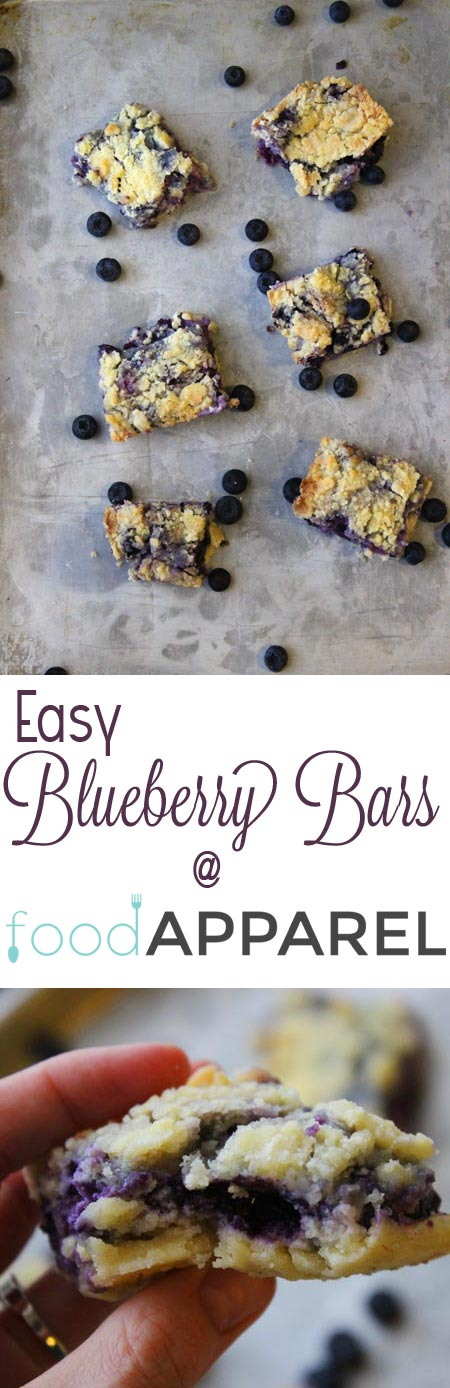 The easiest no-fail blueberry bars!