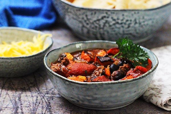 Black Bean Sweet Potato Chili Recipe Food Apparel
