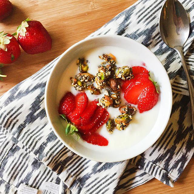 Yogurt Pistachio Crisp (3 no bake healthy desserts)