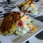 Kartoffelpandekage med avocado,