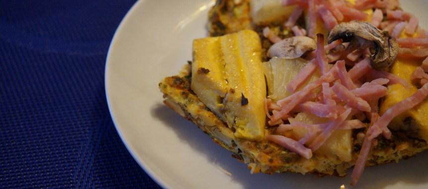 Kanarisk inspireret Hawaii grøntsagspizza med Plantain (madbanan)