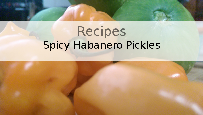 In five minutes these peppers and cukes will be turning into tasty, spicy, crisp pickles.