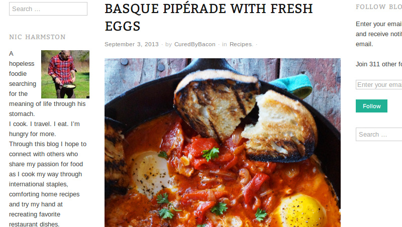 Basque Piperade With Fresh Eggs