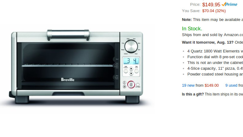Breville BOV450XL Mini Smart Toaster Oven