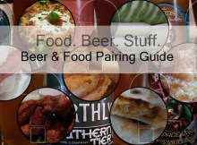 A list of beer and food.