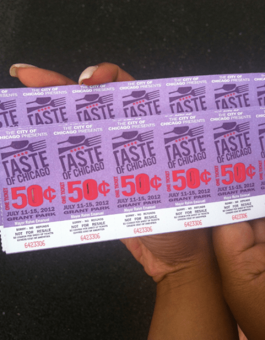 Taste of Chicago Tickets 2012