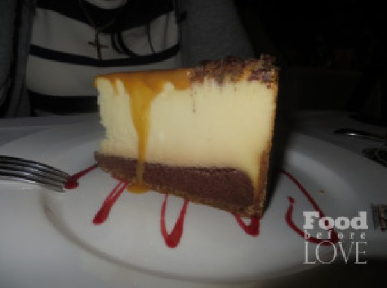 texas de brazil. cheesecake