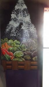 Seasoned Vegan Fruit Basket Mural