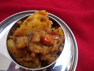 Potato Masala/Potato Thokku - Traditional side dish