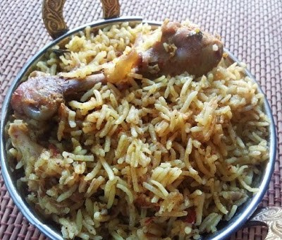 chettinad style chicken biryani,chettinad chicken biryani