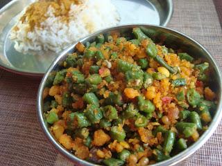 karamani usili,usili,yard long beans stir fry