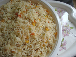sweet corn fried rice,chinese fried rice