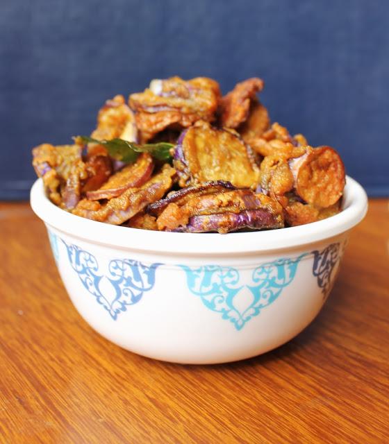 eggplant fritters,brinjal pakoda