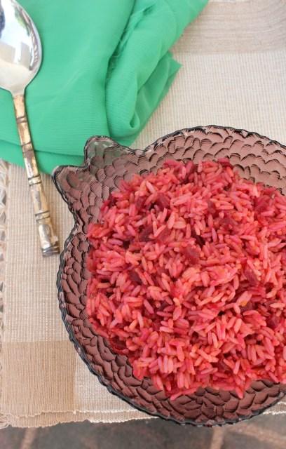 beetroot rice, variety rice, beet rice
