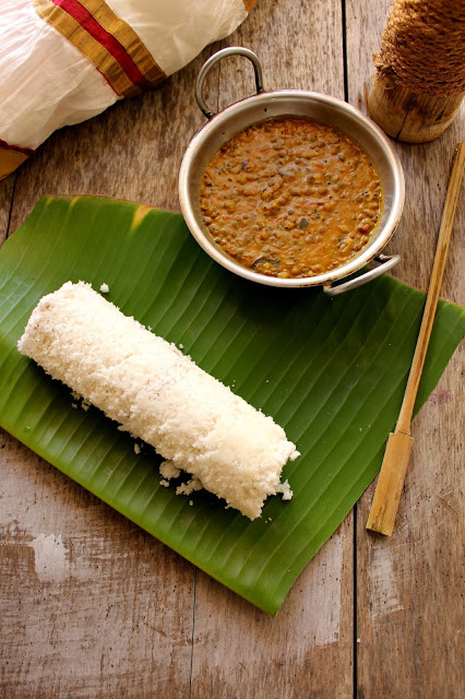 Puttu and Cherupayar curry
