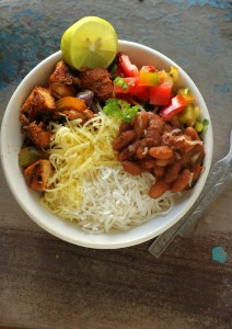 Chipotle style bowl