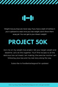 project 50k - weightloss project
