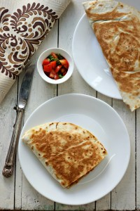 Easy, delicious and filling mocha kottai quesadilla