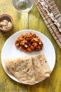 Chappathi & paneer stir fry
