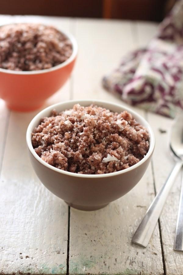 Red rice puttu