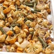 Simple oven roasted veggies