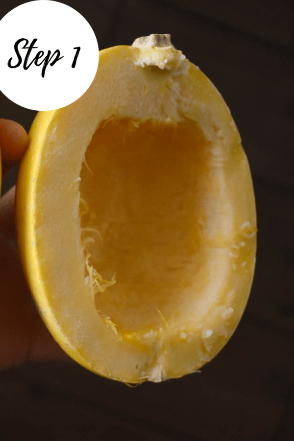 How to make a spaghetti squash step 1