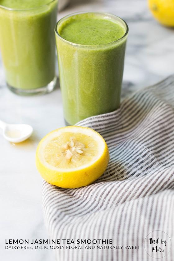 Lemon jasmine tea smoothie dairy free food by mars ingredients fandeluxe Gallery