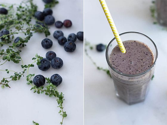 Blue Moon Smoothie (Blueberry + Lemon Thyme)