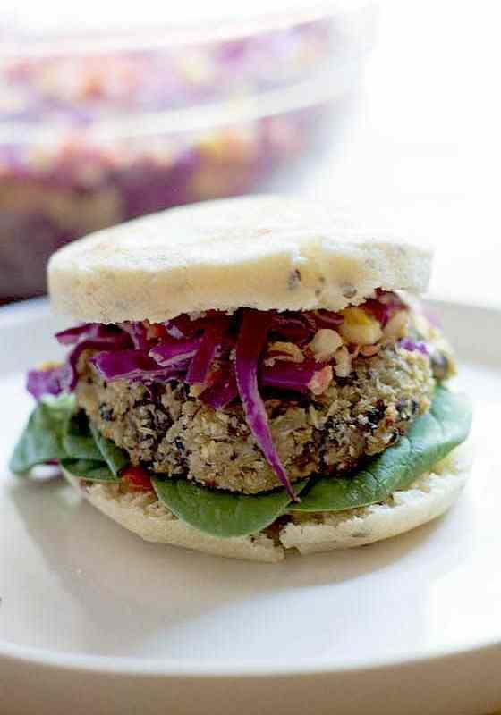 Mushroom Cauliflower Vegan Burgers (V + GF)