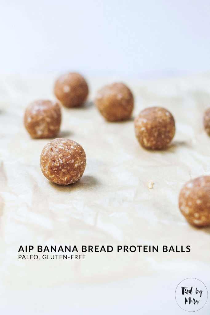 AIP Protein Balls (Banana Bread Protein Balls) (paleo, GF)