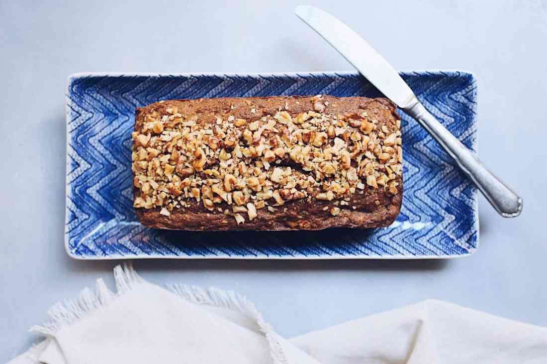 Paleo Carrot Walnut Loaf Cake Gluten Free Refined Sugar