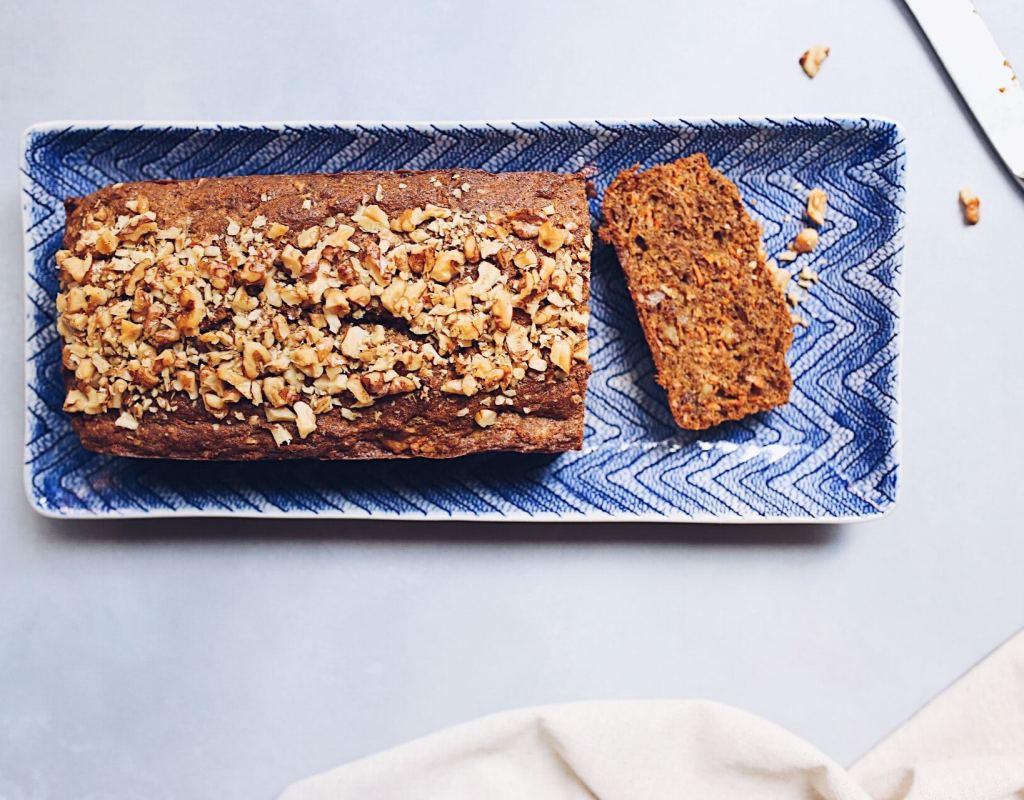 Paleo Carrot Walnut Loaf Cake (gluten-free, refined sugar-free)