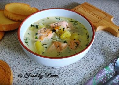 Supă cu somon (supă Lohikeitto)