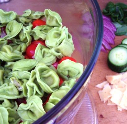 Layered Mediterranean Tortellini Salad Recipe