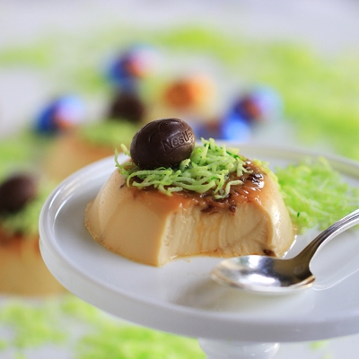 Easter Sweets: Butterfinger Panna Cotta with Easter Egg Nests