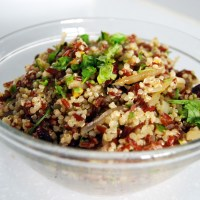 Red Rice and Quinoa Salad with Pistachios and Craisins