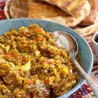 Mirza Ghasemi - Smocked Eggplant Stew