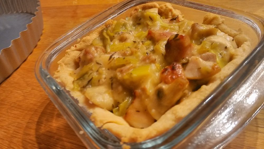 Chicken, leek & bacon pie filling – thickening with flour