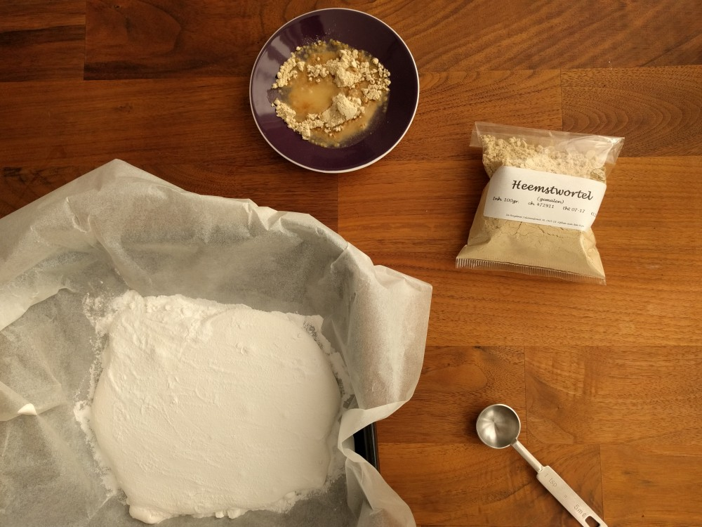Making marshmallow from marshmallow root