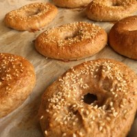 Whole wheat sesame bagels