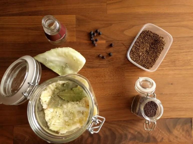 spices for making sauerkraut