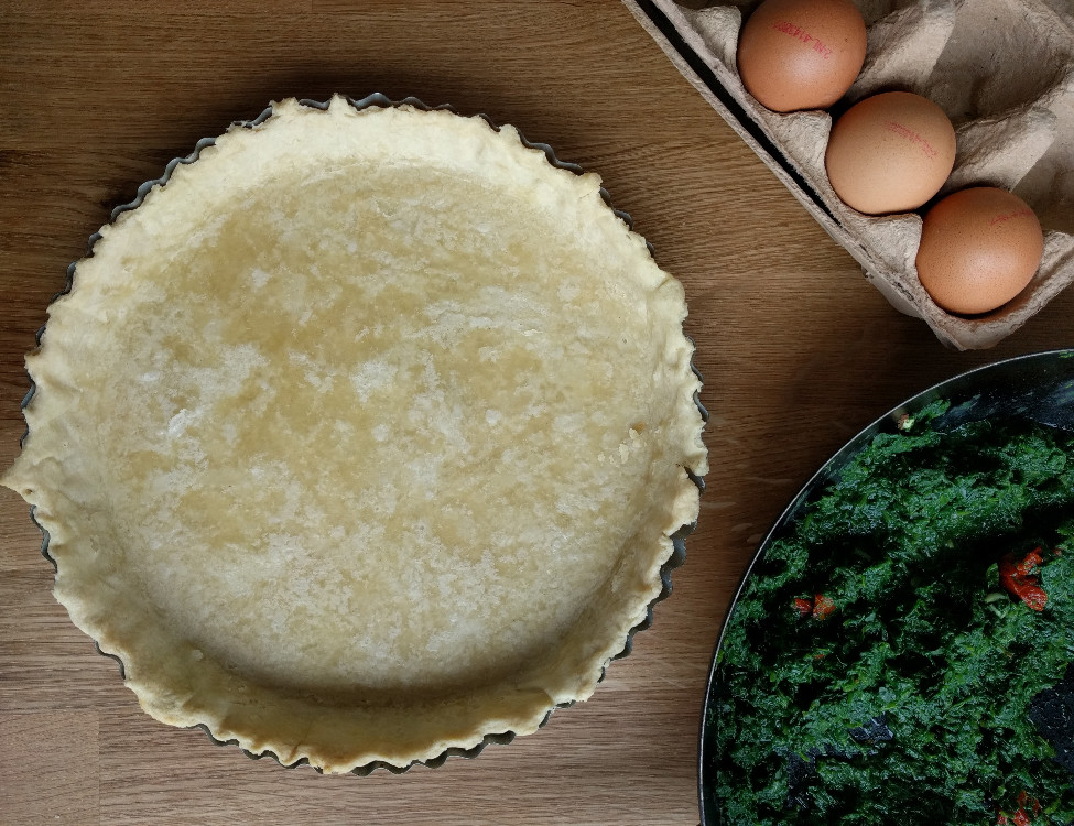 Eggless pie crust + simple Kitchenaid trick for pie crusts