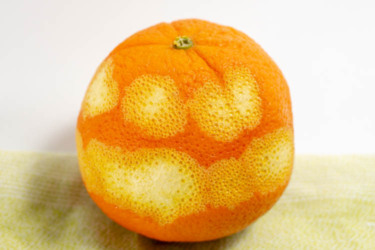 zested orange
