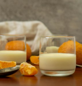 mandarin panna cotta in glass