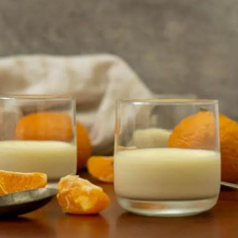 mandarin panna cotta in glass