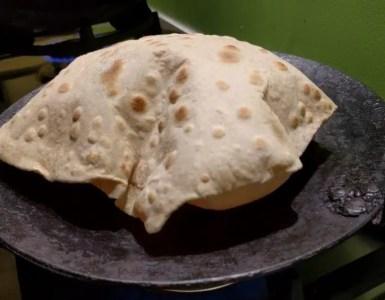 blown up chapati